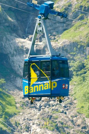 Cable car Fell - Chrüzhütte, Bannalp