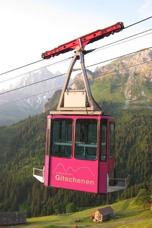 Cable car St. Jakob - Gitschenen