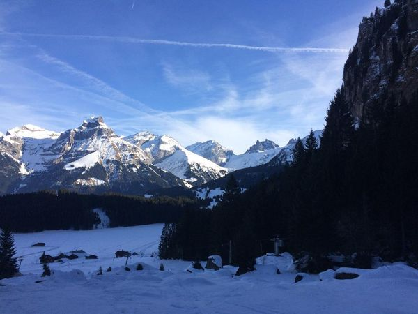 Snowshoe trail Engelberg-Untertrübsee