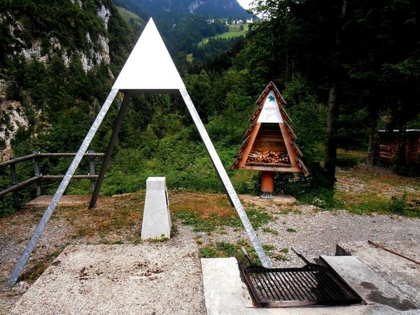 Barbecue spot at the geographical centre of Nidwalden, Wolfenschiessen