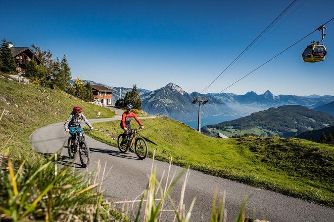 Choltal Biketour auf Klewenalp