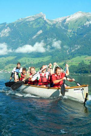 Canoeing on Lake Lucerne