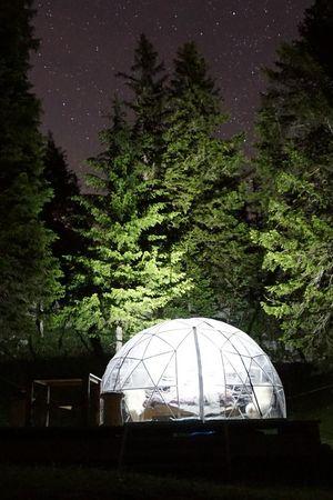 Bubble Übernachtung Stockhütte