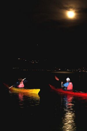Full moon paddle tour