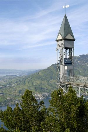 Hammetschwand Lift - the highest exterior elevator in Europe