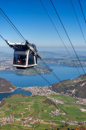 CabriO cable car, Stanserhorn - open April to November