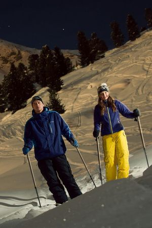 Bannalp: Snowshoeing in the moonlight