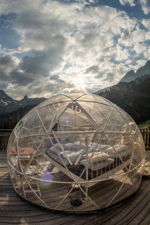 Bubble Übernachtung Klewenstock
