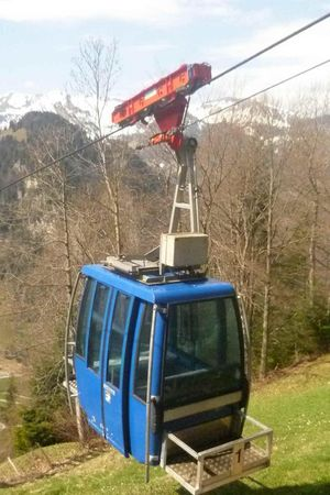 Luftseilbahn Oberrickenbach - Schmidsboden, Fahrt telefonisch anmelden Tel. +41 (0)76 549 78 72
