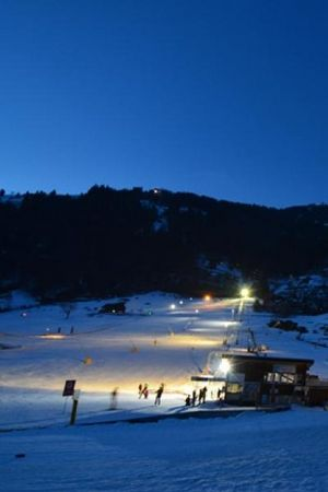 Night skiing & night sledging