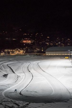 Cross-country skiing on the Schanzenloipe, Engelberg