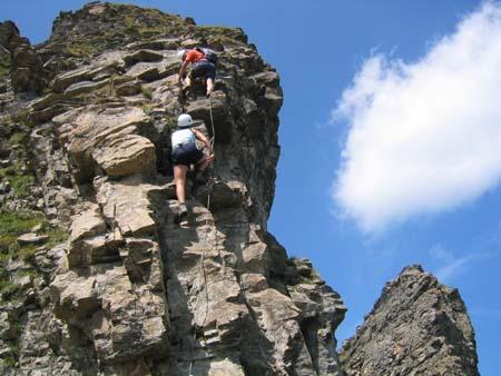 Über den Klettersteig auf den Graustock Engelberg/Titlis